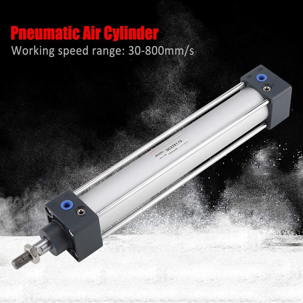Cilindro pneumatico ad aria a pistone cilindrico a doppia azione da 32 mm con cilindro a pistone pneumatico filettato