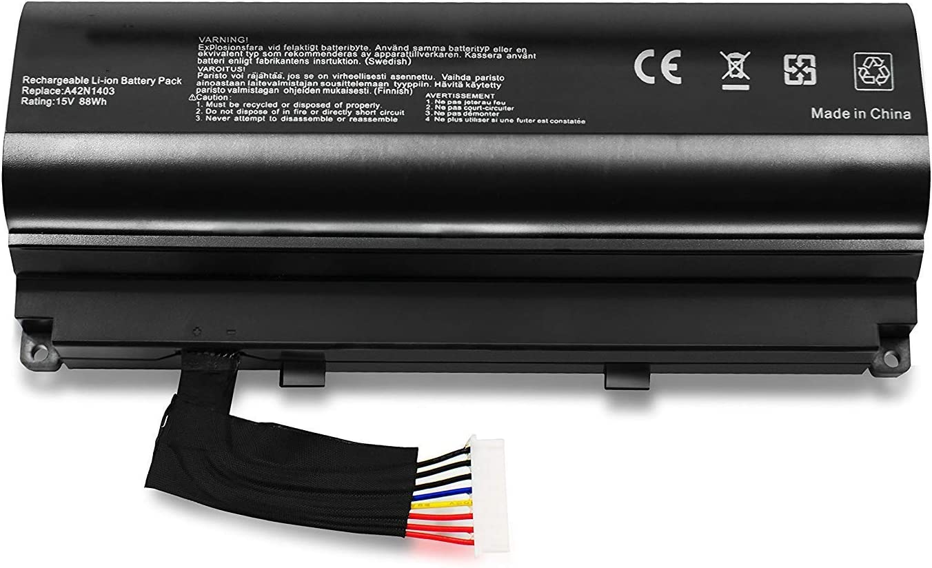 ASKC 88Wh A42N1403 Laptop Battery for ASUS ROG GFX71JY 17.3 ...