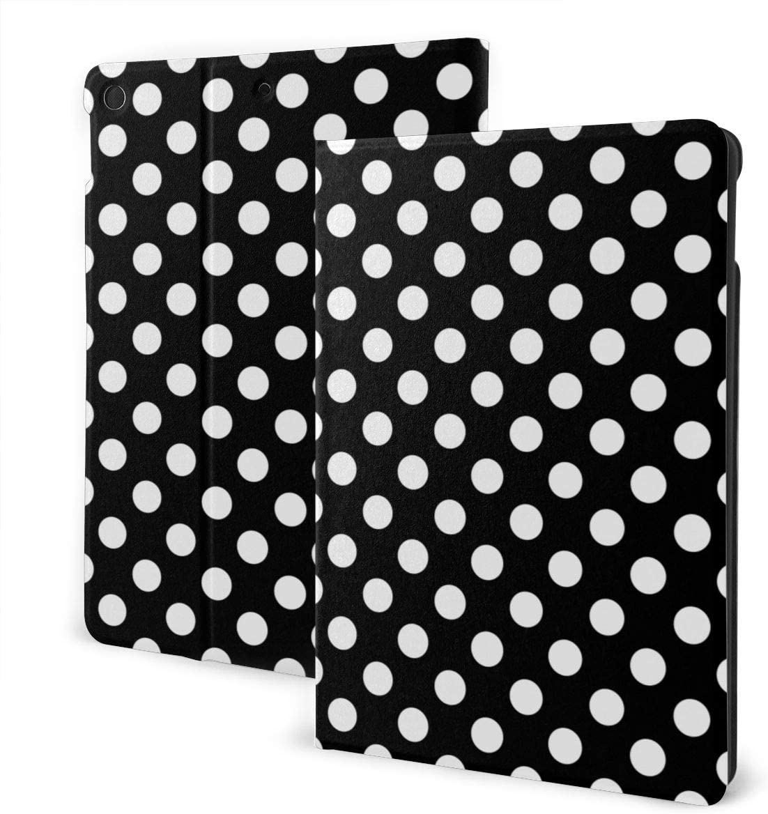 White Black Polka Dot for iPad 10.2 Case 2019 for iPad 7th Generation Case Premium Shockproof Case PU Leather Protective Smart Cover - Auto Wake/Sleep, Multiple Viewing Angles, Magnetic Closure