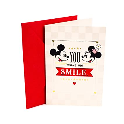 Amazon Hallmark Love Greeting Card Mickey Mouse Minnie
