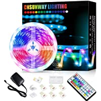 Led Strip Lights, 5M RGB Color Changing Led Strip Lights with 44 Keys Remote Controller 5050 LED Rope Lighting Strips…