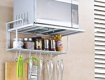 QFF Supporto a muro per cucina a muro a muro a microonde per ...