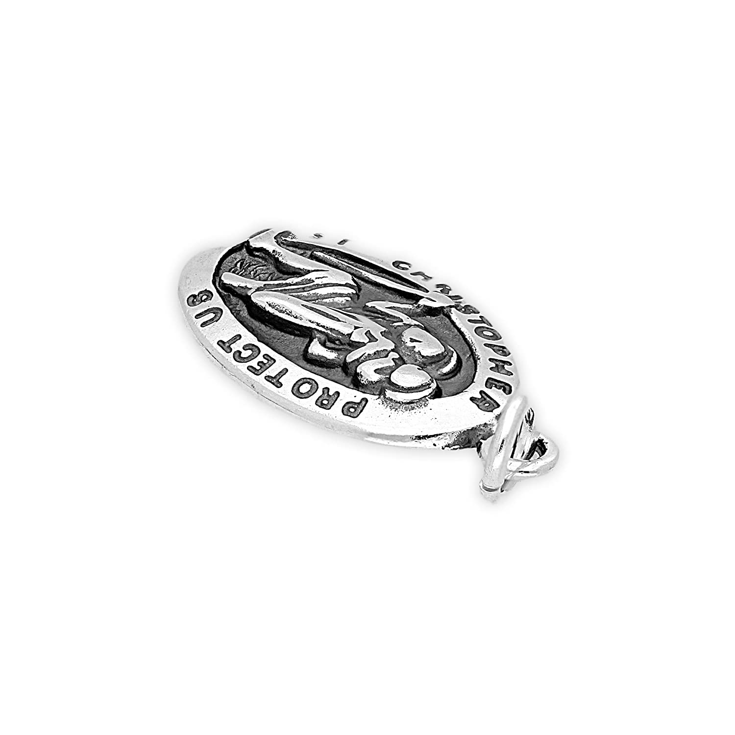 TheCharmWorks Sterling Silver St Christopher Charm