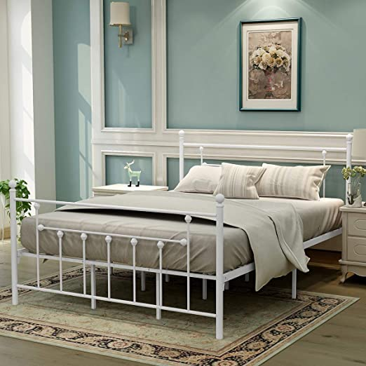 Zinus FSUP-F Upholstered Scalloped Button Tufted Platform Bed with Wooden Slat Support Design Award Finalist Full