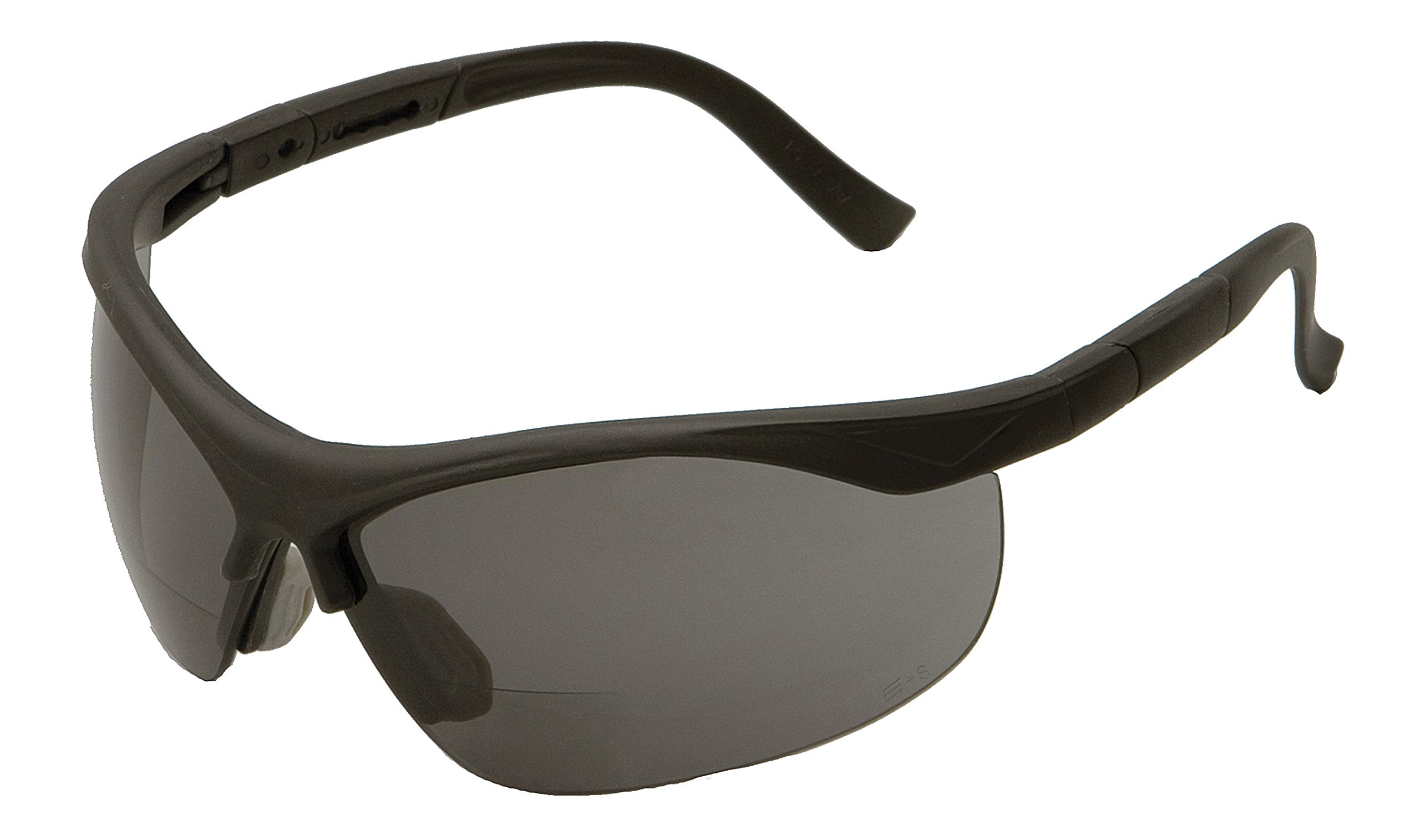 ERB 16874 ERBx Safety Glasses with +1.0 Bifocal Power, Black Frame with Smoke Lens
