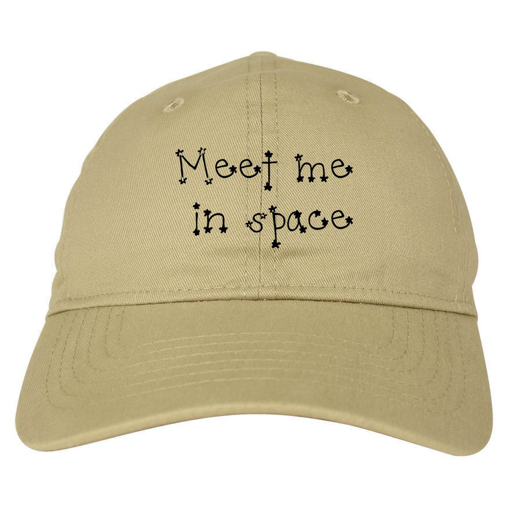 Amazon.com  Meet Me in Space Dad Hat Baseball Cap Beige  Clothing ba45ab98d72f