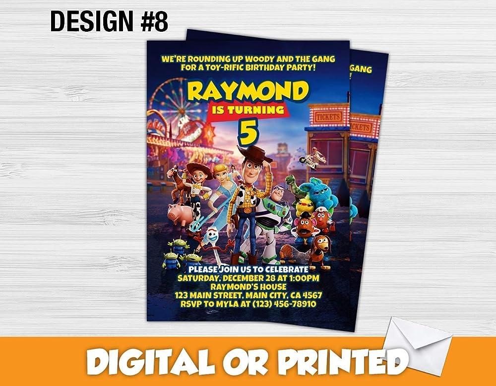 Custom Toy Story Birthday Invitations More Designs Inside