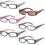 Amazon.com: Gafas de lectura para mujer, paquete de 4 ...