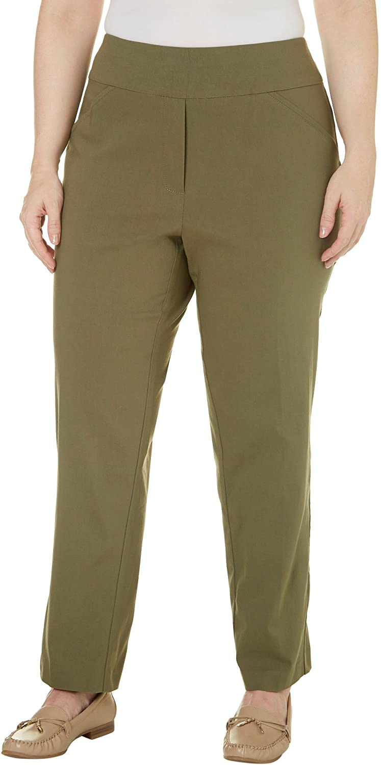 0934bef5dc6 Alfred Dunner Plus Size Cactus Ranch Collection Pull-On Pants (24W) at  Amazon Women s Clothing store