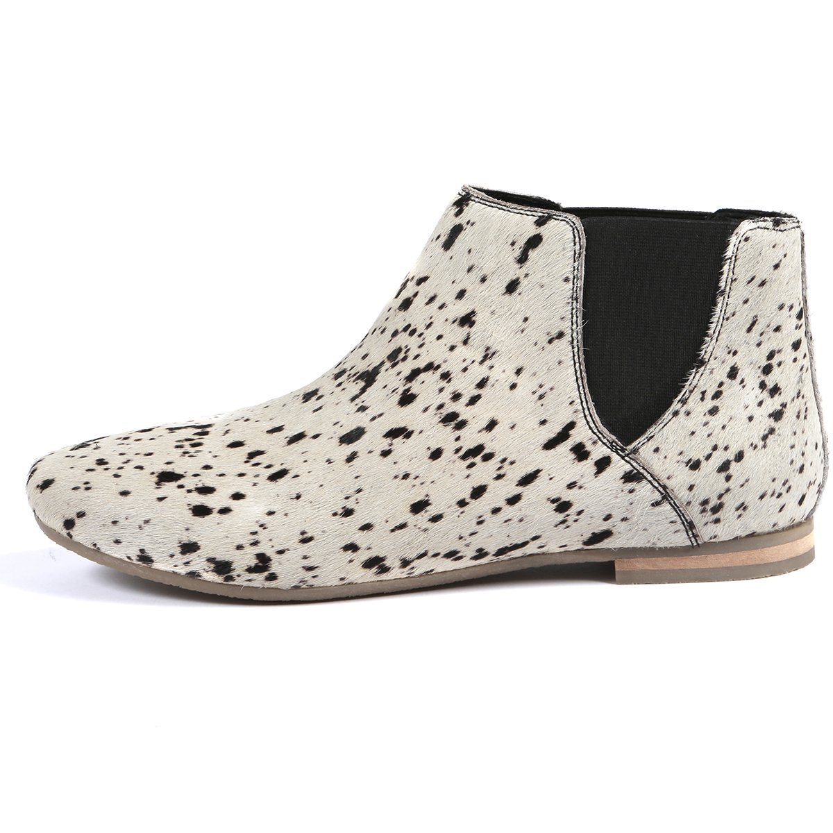 1950dc457 Aspele Womens Hairon Leather Cheetah Printed Chelsea Flat Heels Ankle Boots-Animal  Print: Amazon.co.uk: Shoes & Bags