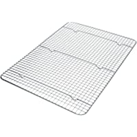 "Stainless Steel Wire Cooling Rack, Cookie Cooling Rack, Baking Rack, Grid Design, Size 11.73"" x 16.85"" Dishwasher Safe Wire Rack. Fits Half Sheet Cookie Pan Oven Safe Rack"