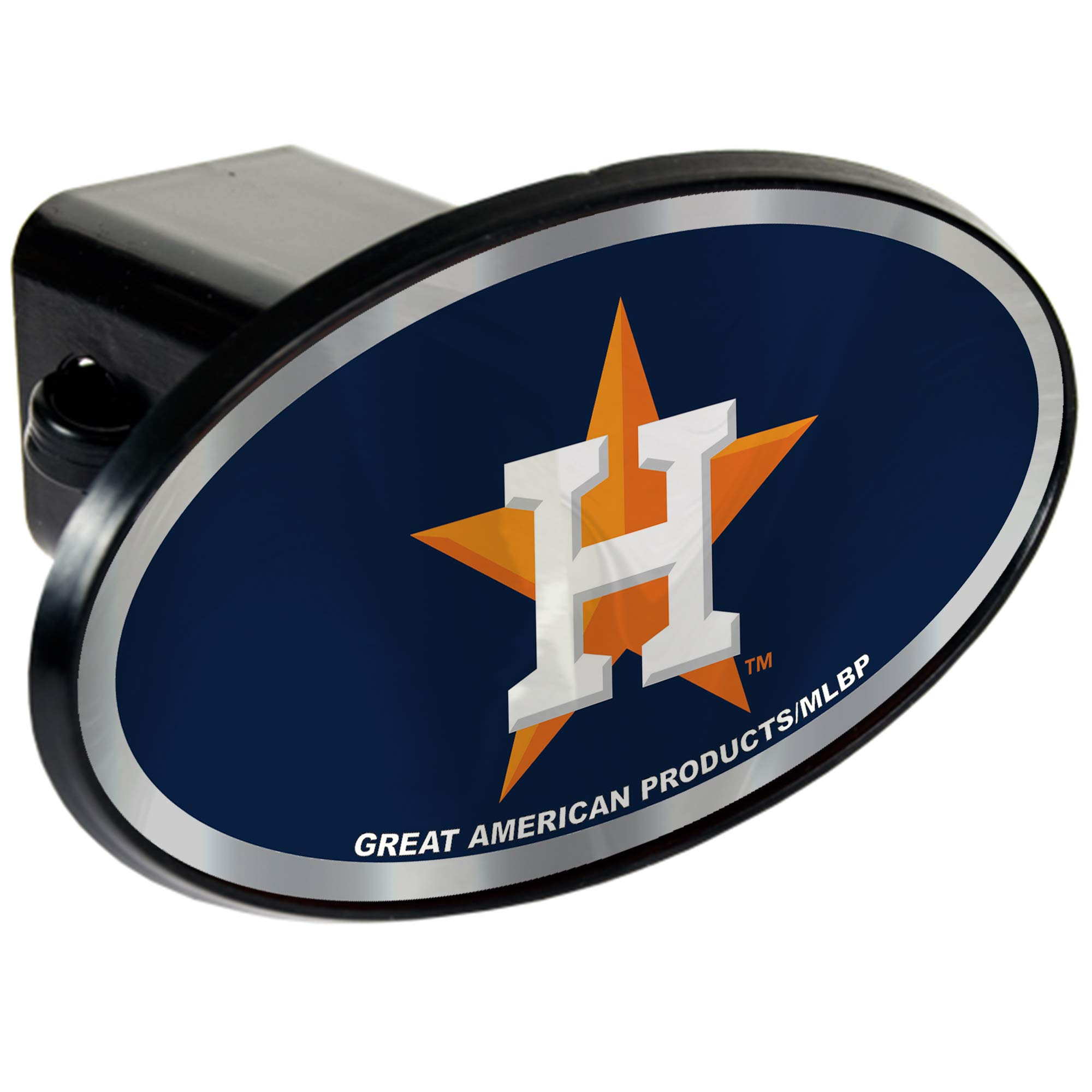 Houston Astros 2'' MLB Trailer Hitch Receiver Cover - ABS Plastic by Quality Hitch Covers