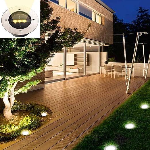 8LEDs//12LEDs Solarlampe Garten Lampe Solarleuchten Bodenstrahler Gartenleuchten