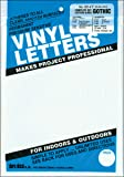 """Duro Decal Permanent Adhesive Vinyl Letters & Numbers: 1"""" Gothic White"""