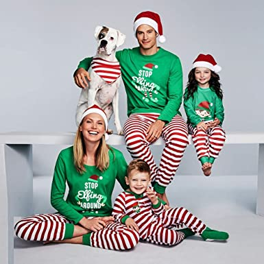 dfbd7a1d69 Christmas Family Pajamas PJS A6 For Pants Set Footed Women Footie Long  Sleeve 2t Halloween Toddler