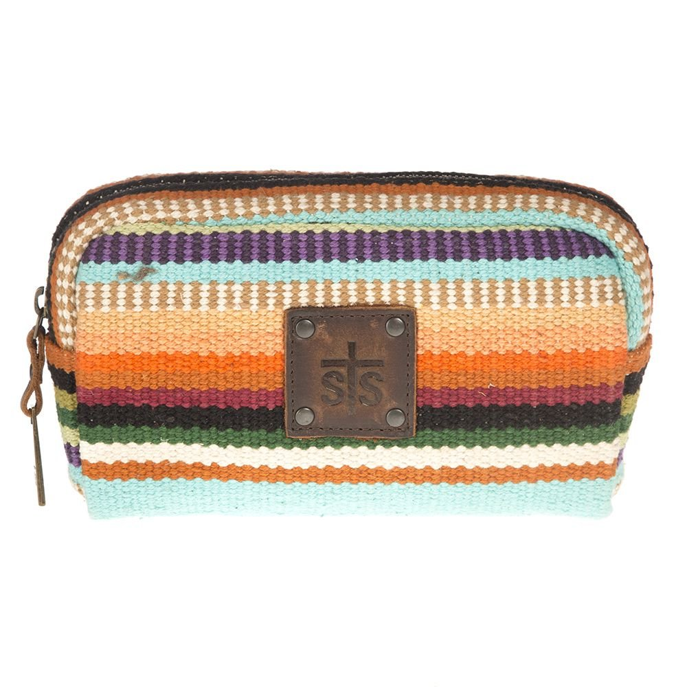617ff0fcd20c STS Ranchwear Womens The Bebe Serape Cosmetic Bag