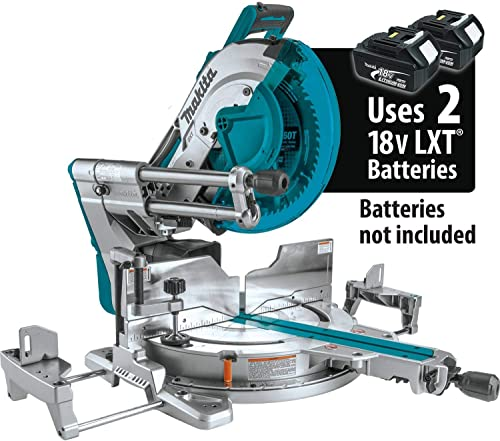 Makita XSL08Z 18V x2 LXT Lithium-Ion 36V Brushless Cordless 12 Dual-Bevel Sliding Compound Miter Saw