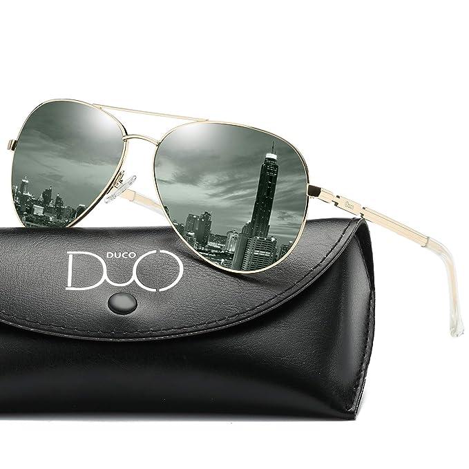 Duco Cool Piloto vidrios gafas de sol clásico unisex gafas piloto espejo  UV400 filtro categoría 3 CE 3025K  Amazon.es  Ropa y accesorios 411f05b4671a