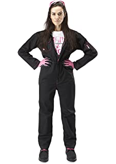Adults Pink Plain Overalls Mechanic Boilersuit Fancy Dress L Xl