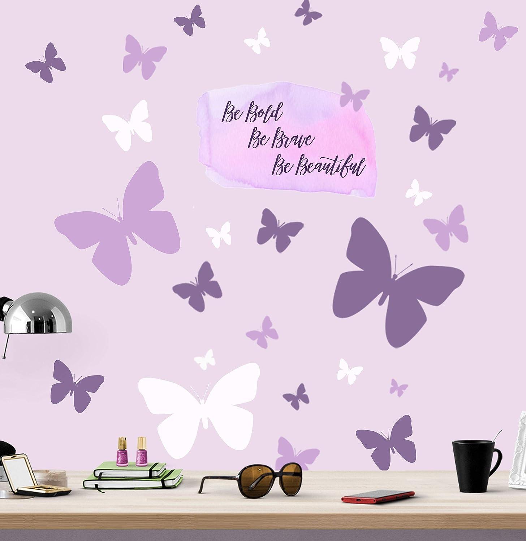 Butterfly Flower Wall Sticker Nursery Home Decor Girls Room Sticker Kids Mural