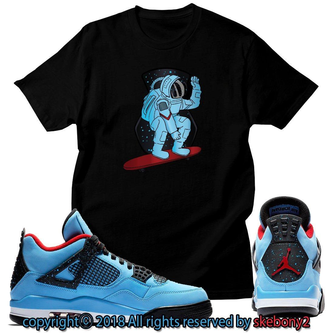 e1f6ab3c1 Custom T Shirt Matching Travis Scott x Air Jordan 4 Cactus Jack JD 4-1-3