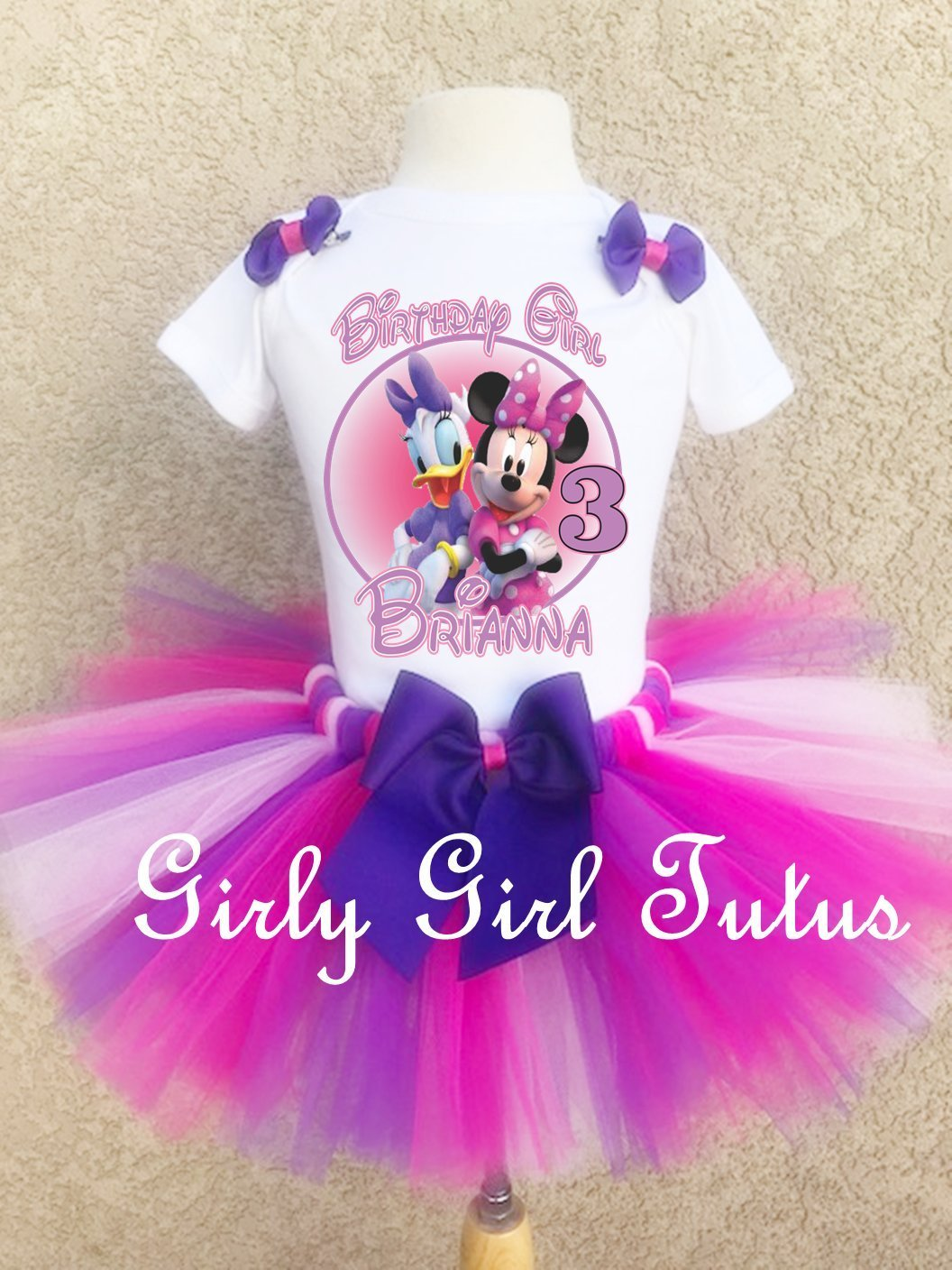 Minnie Mouse and Daisy Duck Birthday Outfit Set