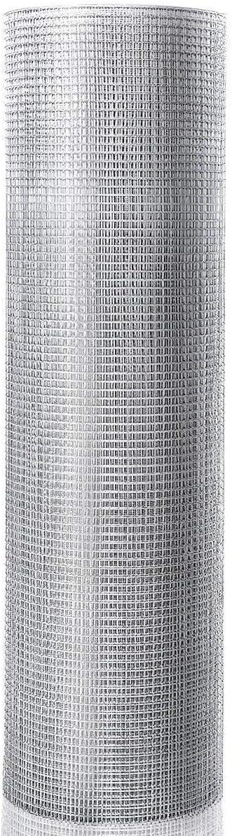 COSTWAY 7x7mm Volierendraht Maschendraht 23 Gauge Metallgitter Drahtgitter Hasendraht Schweissgitter Drahtzaun Gartenzaun 15m x 0,9m
