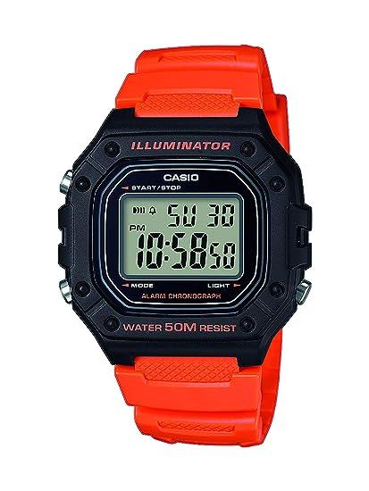 392f9a28f048 Casio Reloj Digital para Hombre de Cuarzo con Correa en Resina W-218H-4B2VEF   Amazon.es  Relojes