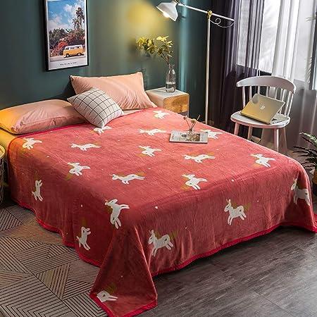 Sábanas encimeras Franela, Sábana de algodón Invierno Cálido Manta Hombre y Mujer Estudiantes Dormitorio Felpa Sábana Bajera 1 pc-Rojo 120x200cm(47x79inch): Amazon.es: Hogar