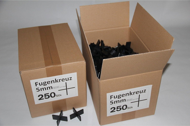 Fugenkreuze 5mm, Bauhö he 20mm, 250 Stü ck im Karton B+B Plattenbeläge GmbH