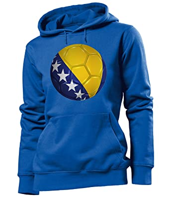 love all my shirts Bosnien Fussball Fanhoodie Frauen Damen