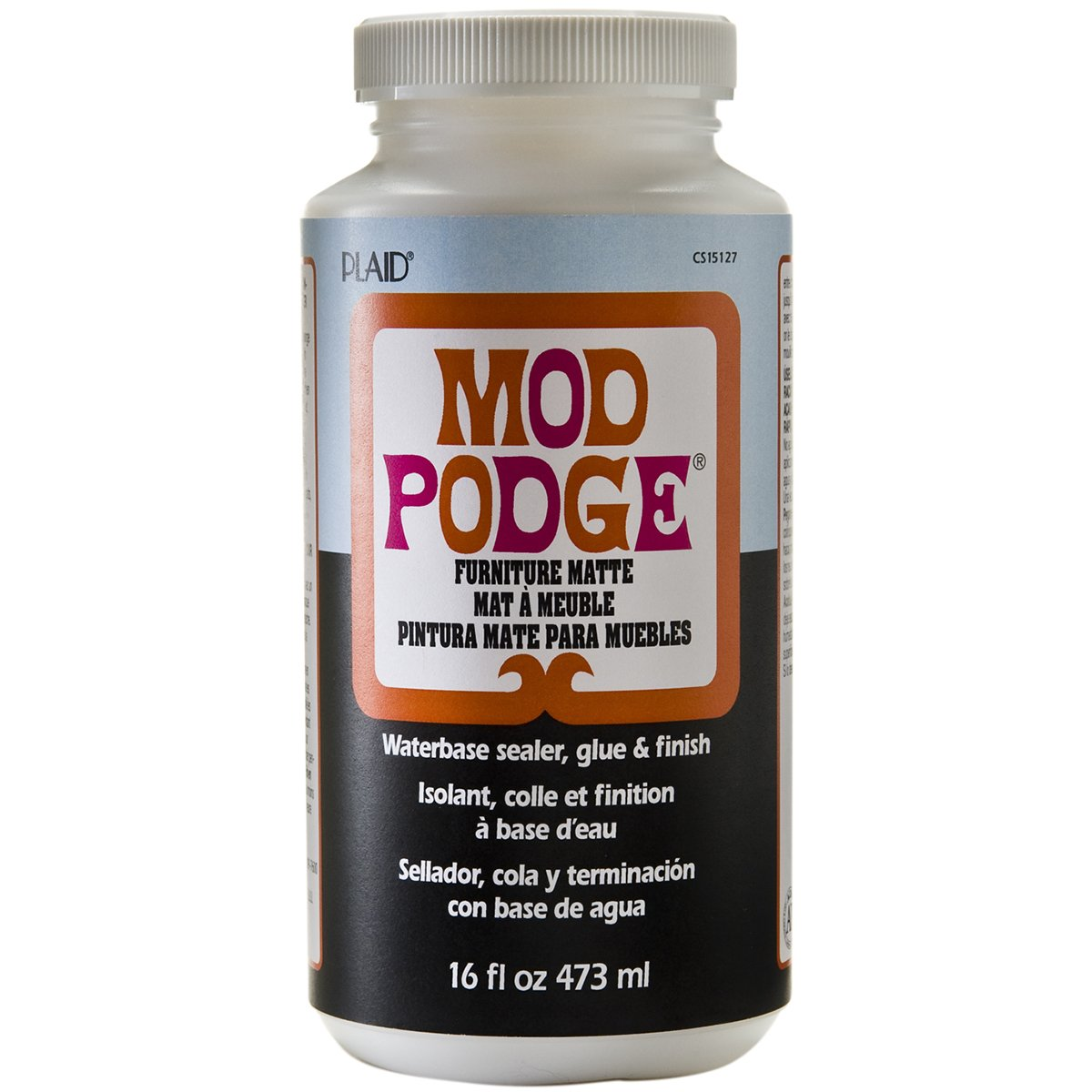 Amazon.com: Mod Podge Waterbase Sealer, Glue And Finish For Furniture  (16 Ounce), CS15127 Matte Finish