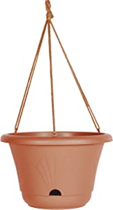 Bloem Lucca Self Watering Hanging Basket Planter (LHB1346), Terra Cotta, 13