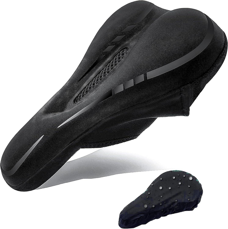 Bike Gel Saddle Seat Cover MTB Bicycle Silicone Soft Comfort Pad Cushion Padded