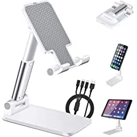HULPPRE Cell Phone Holder Stand for Desk, Foldable for Tablet Ipad Holder Stand, Angle&Height Adjustable Mobile Stand…