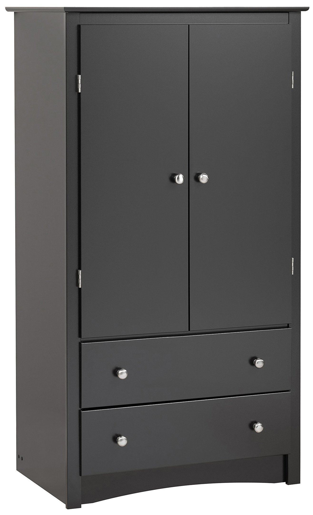 Black Sonoma 2 Door Armoire by Prepac