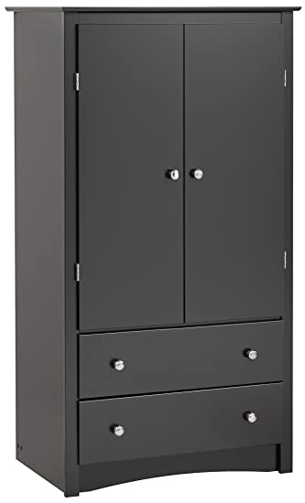 Superior Black Sonoma 2 Door Armoire