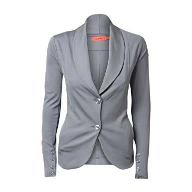 Miss goodlife - Chaqueta de traje - para mujer Grey Neon Pink M ...
