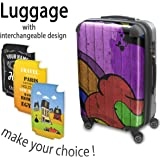 Collection 140, Personnalisé 360 degree 4 Roues Valise de Voyage Rigide Luggage Bagage Hard Case Cover Luggage Trolley Travel Bag