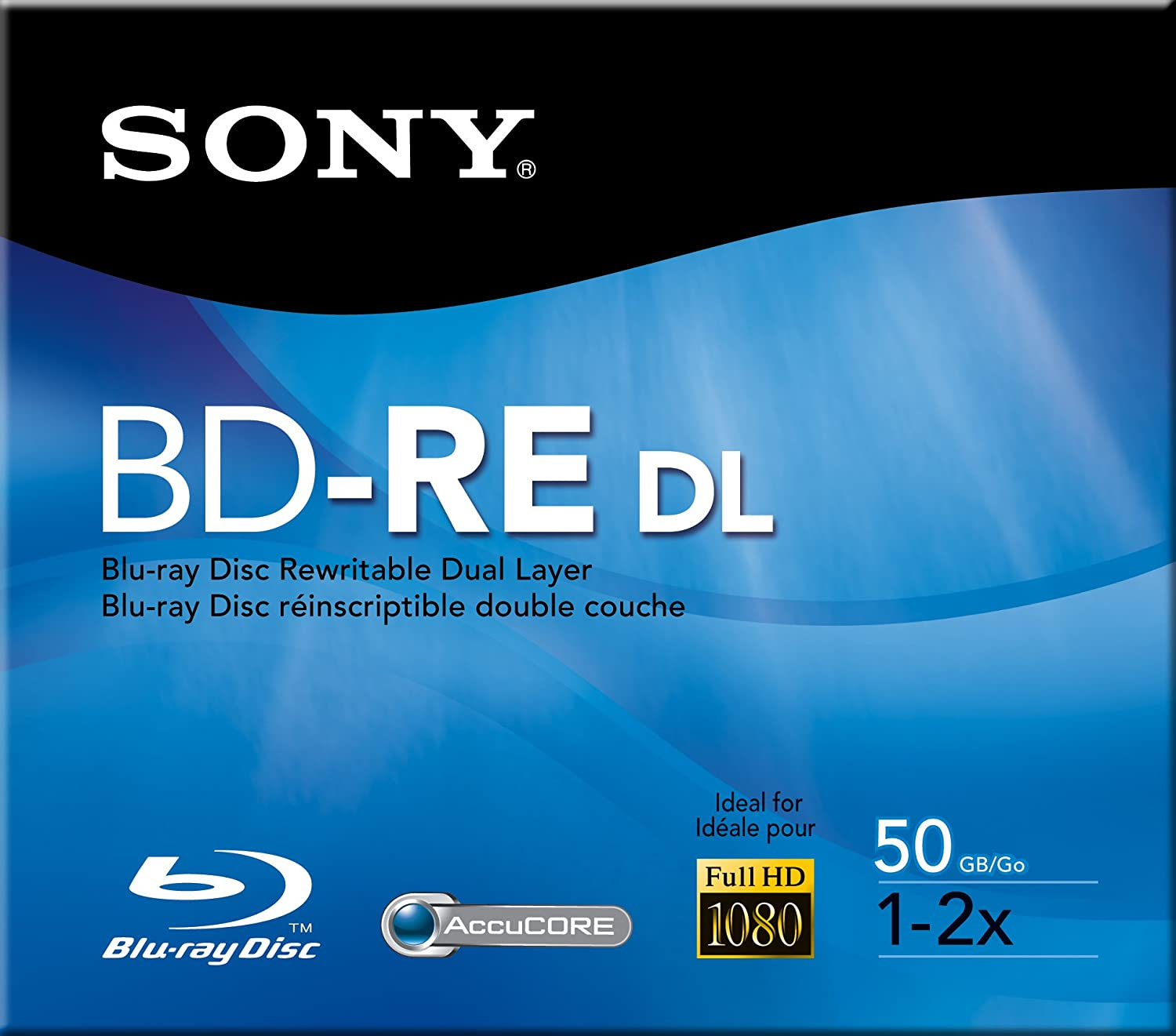 Sony Recordable Dual Layer Disc, 50gb, 2X BNE50RH