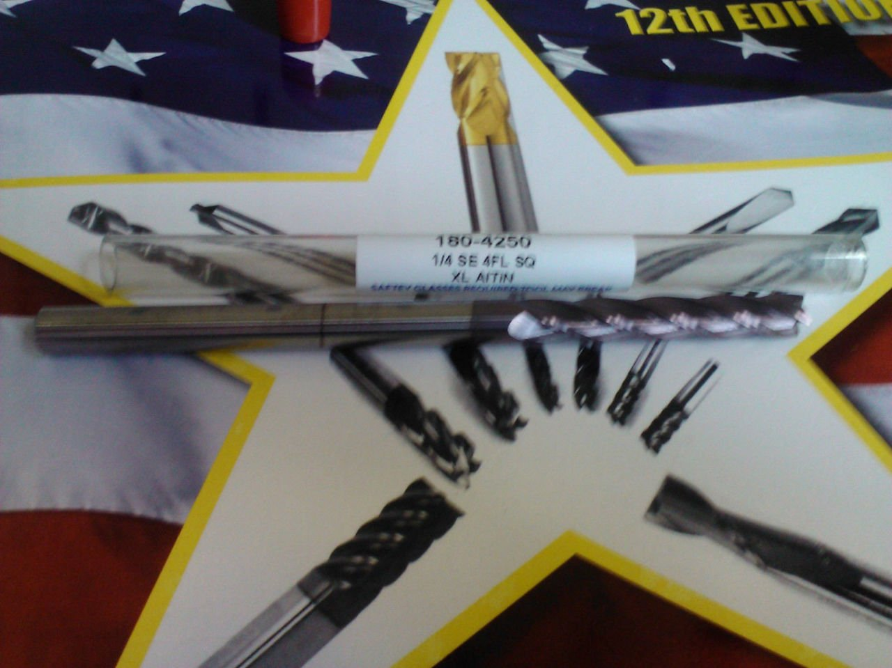 ".250/"" 1//4/"" 4 FLUTE AlTiN EXTRA-LONG LENGTH CARBIDE END MILL 1//4/"" x 1//4/"" x 1-1//2/"""