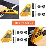 Featherboard, DRILLPRO Double Featherboards Feather Loc Board for Table Saws Band Saws Router Tables Fences Tools Miter Gauge Slot Woodworking