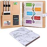 Z PLINRISE Plinrise High Grade Multifunction Letter Size Padfolio/Resume Portfolio Folder-Document Organizer/Business Card Ho