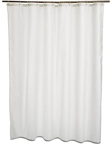 AmazonBasics - Cortina de ducha de poliéster (180 x 180 cm), color blanco