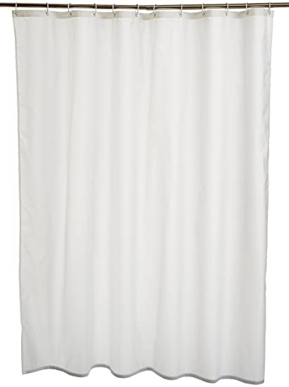 AmazonBasics Polyester Shower Curtain 180 X 180cm White