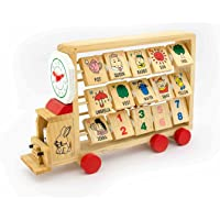 Activity Truck to Learn Abacus Alphabets Numbers and Time - Eco-Friendly Wooden Toys
