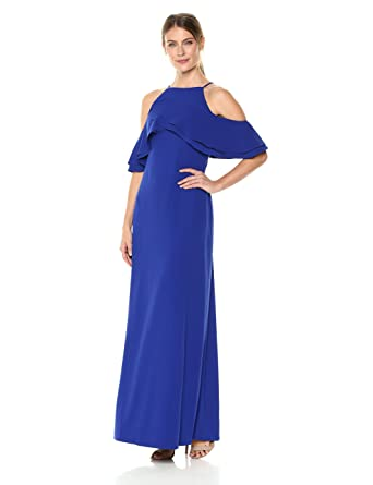 d46429eb3e Marina Women s Cold Shoulder Ruffle Gown at Amazon Women s Clothing store