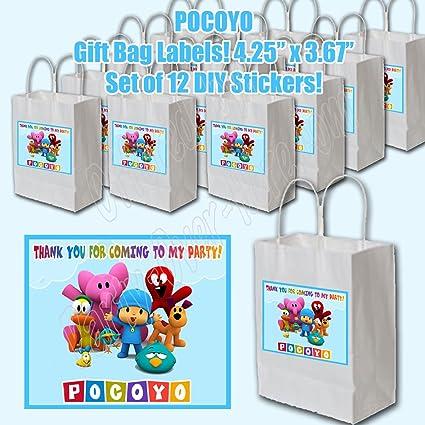 Amazon.com: Pocoyo fiesta decoraciones bolsa de regalo ...