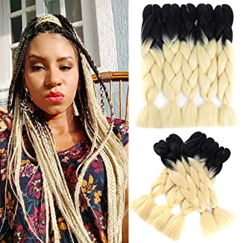 Amazon Com Ling Xiu Hair 5pcs Braiding Syntheticlot Ombre Braiding