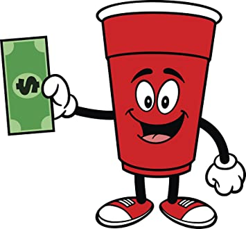 Amazoncom Happy Red Party Cup Emoji With Cash Vinyl Decal Sticker